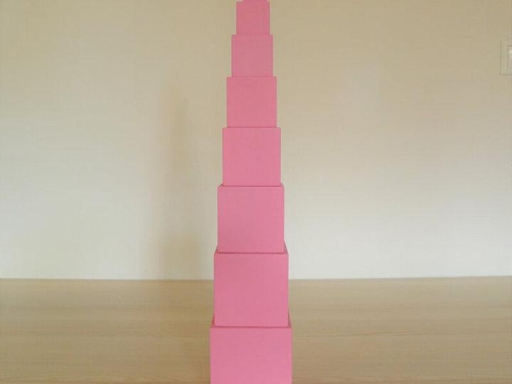 Montessori ružová veža